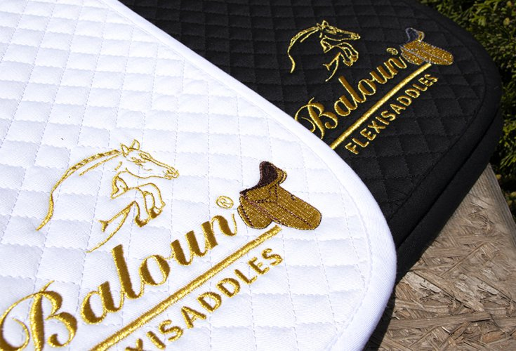 SADDLE PAD - with gold embroidery