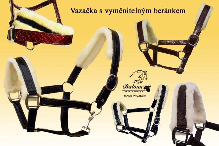 HALTER - WITH REMOVABLE SHEEPSKIN
