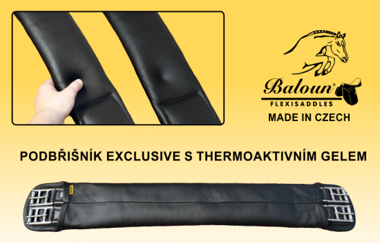 Baloun® girth with thermogel is very comfortable even for sensitive horses