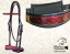 BRIDLE - DRESSAGE - with design leather