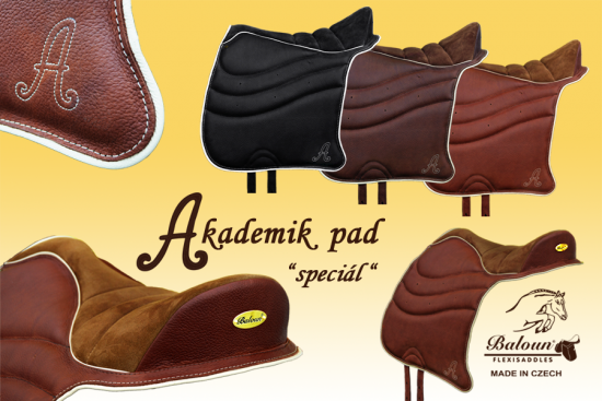 Academic pad - special - velour + smooth leather, all color combinations