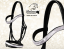 PONY bridle Baloun® made of black leather and silver design leather