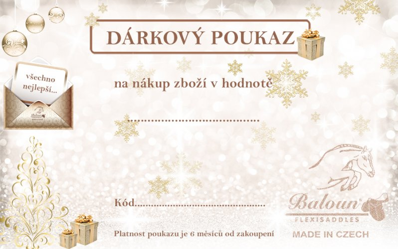 Gift voucher for purchase Baloun® products