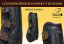Tendon&Fetlock boots Baloun® -  made of black leather and snake design leather