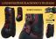 Tendon&Fetlock boots Baloun® -  made of black leather and Bordeaux design leather