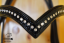 Detail of bridle browband with design leather and Swarovski crystals