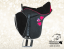 Black mini saddle Baloun® for kids. Model 1
