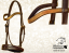 Baloun® bridle made of mocca leather and gold design leather