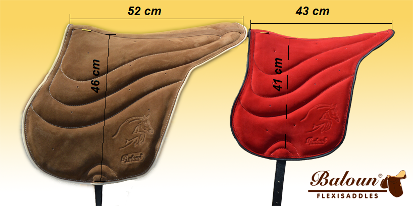 Size difference between adult and kids riding pad