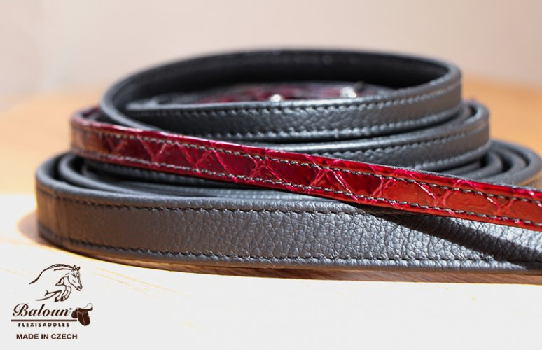 Difference between narrow and classic leather reins Baloun®, narrow reins with design leather