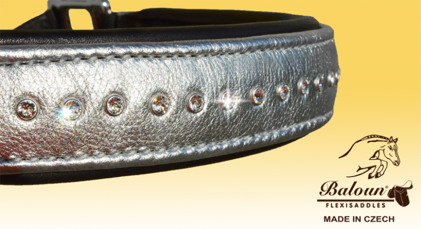 HALTER - PADDED - with design leather